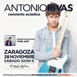 ANTONIO RIVAS ZARAGOZA 28-11-2015 Poeta Eléctrico